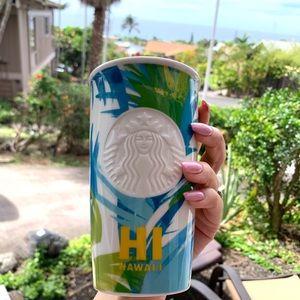 Starbucks limited edition Hawai'i ceramics tumbler